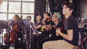 Akua Dixon, Alberto Villalobos, Regina Carter, Ernesto Villalobos rehearsing in Tijuana