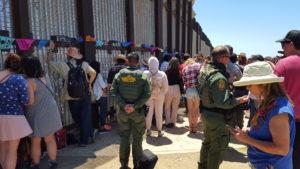 Border Patrol agents during the Fandango Fronterizo Festival in 2017