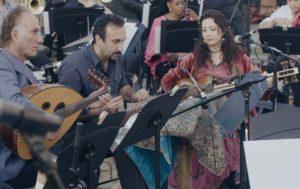 Rahim AlHaj (left), Sourena Sefati (center), Sahba Motallebi (right)