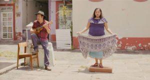 Ramón Gutiérrez Hernández and Minerva Alejandra Velez dancing on the tarima in Veracruz, Mexico