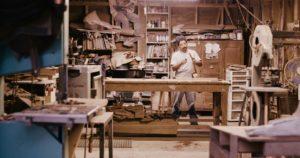 Tacho Utrera in his workshop in Veracruz, Mexico